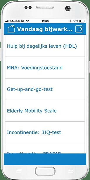 Kwetsbare ouderen subschalen Gezondheidsmeter PGO